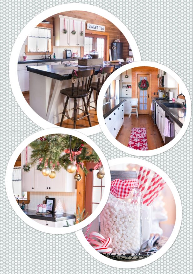 Rustic Log Home Country Kitchen Christmas Tour