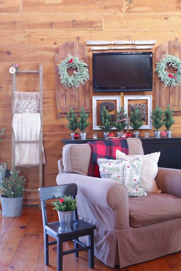 Rustic Christmas Living Room Tour