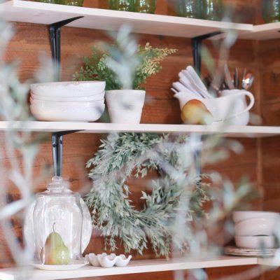 Styled Open Farmhouse Shelves