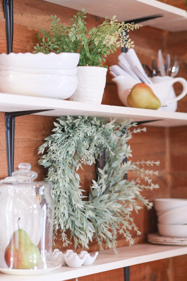 How to Style Open Farmhouse Shelves