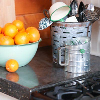 Galvanized Kitchen Storage
