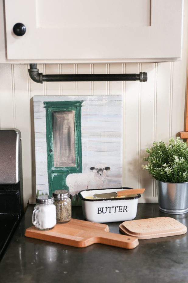 DIY Industrial Farmhouse Paper Towel Holder Using Fittings From The Hardware Store