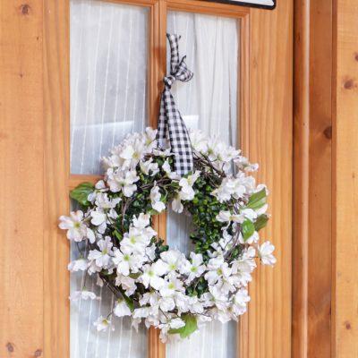 Spring Apple Blossom Wreath | DIY No Glue Required