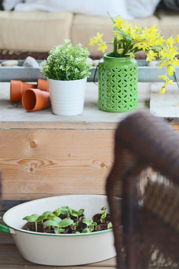 Early Spring Porch Decor