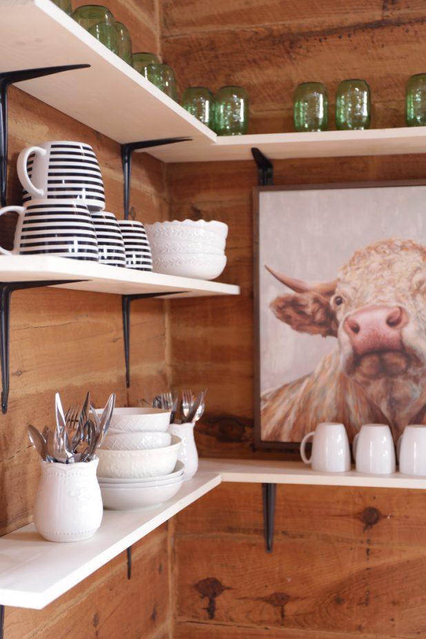 Open Farmhouse Shelves