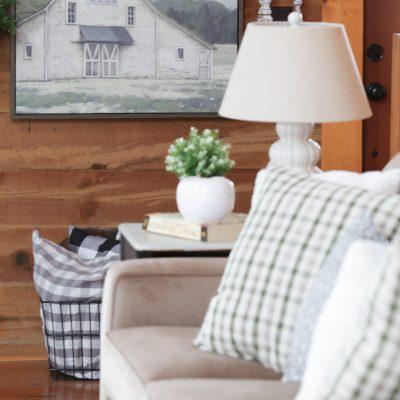 Farmhouse Plaid Pillows