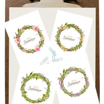 Summer Wreath Printables