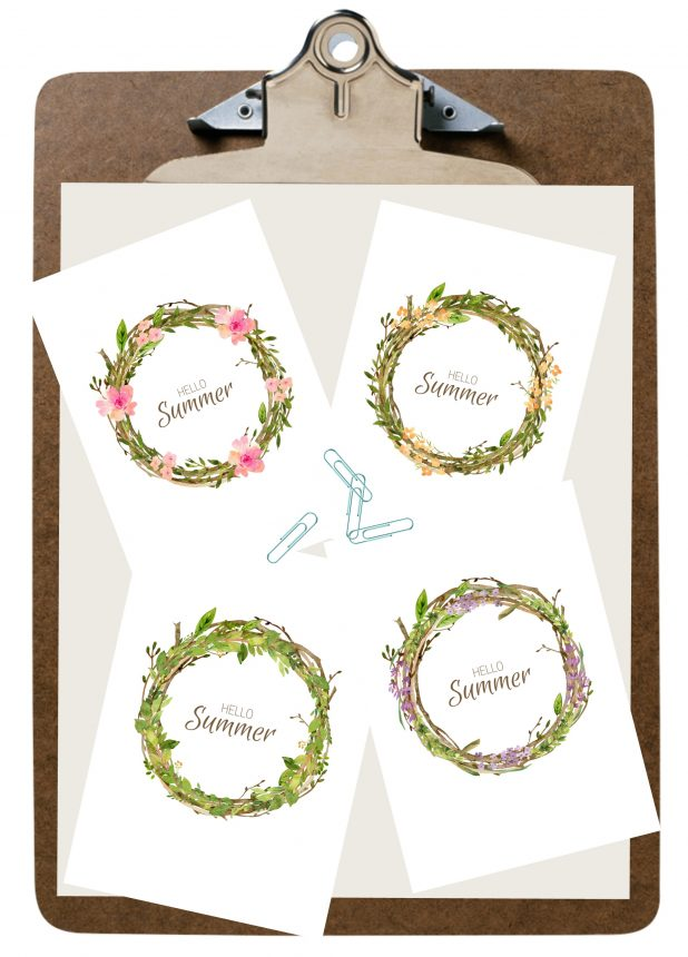 Summer Printable Wreaths