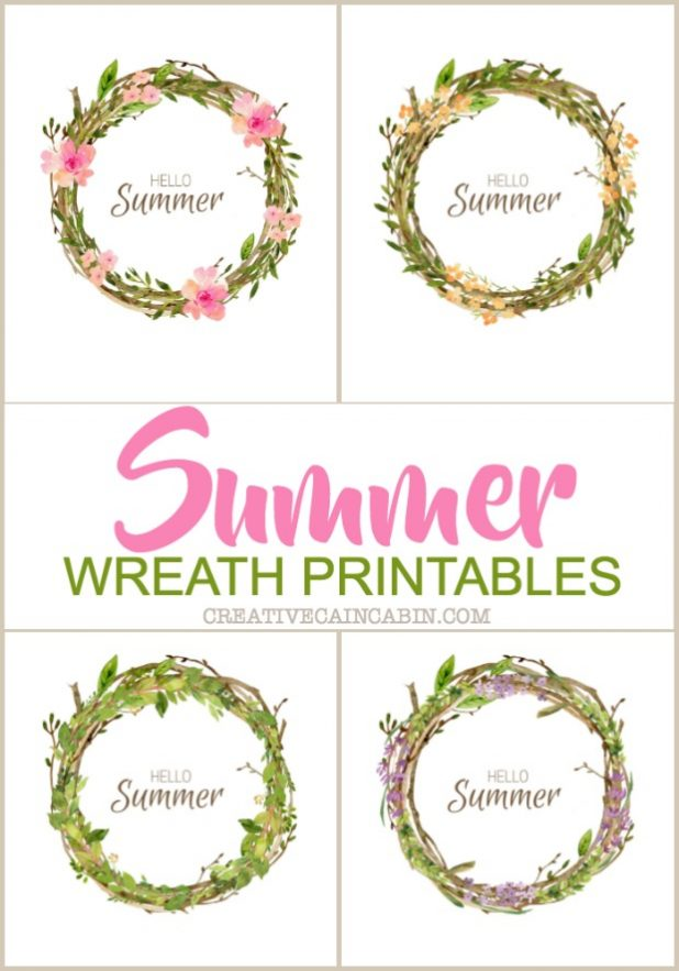 Free Summer Wreath Printables