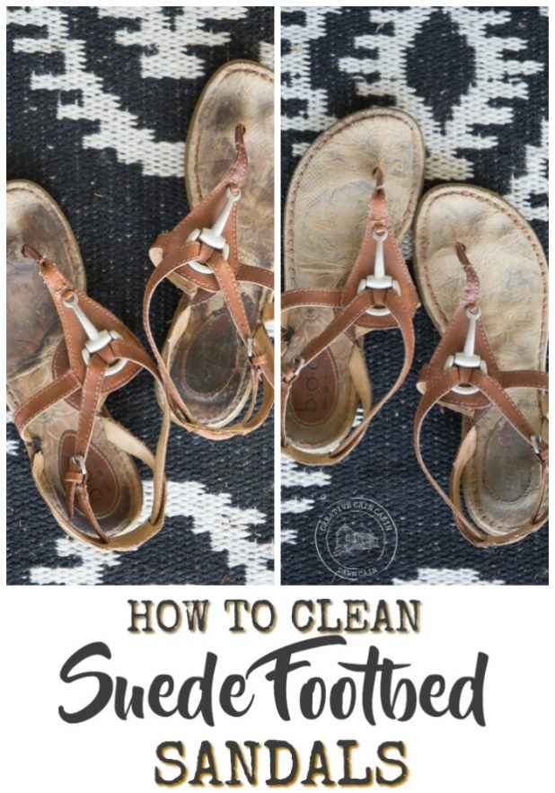 Easy DIY Method for Cleaning The Footbed of Suede Sandals