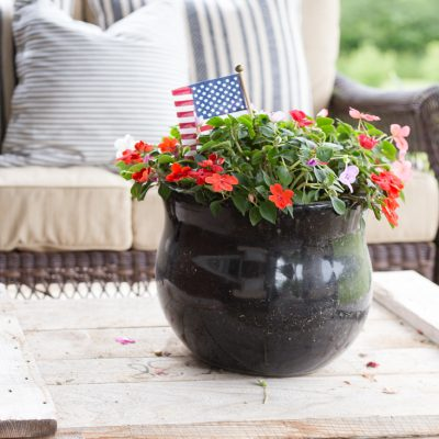 Rustic 4th of July Porch