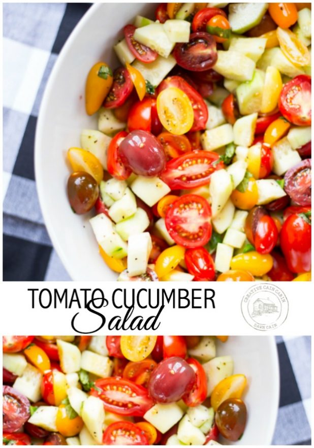Garden Fresh Tomato Cucumber Salad Recipe