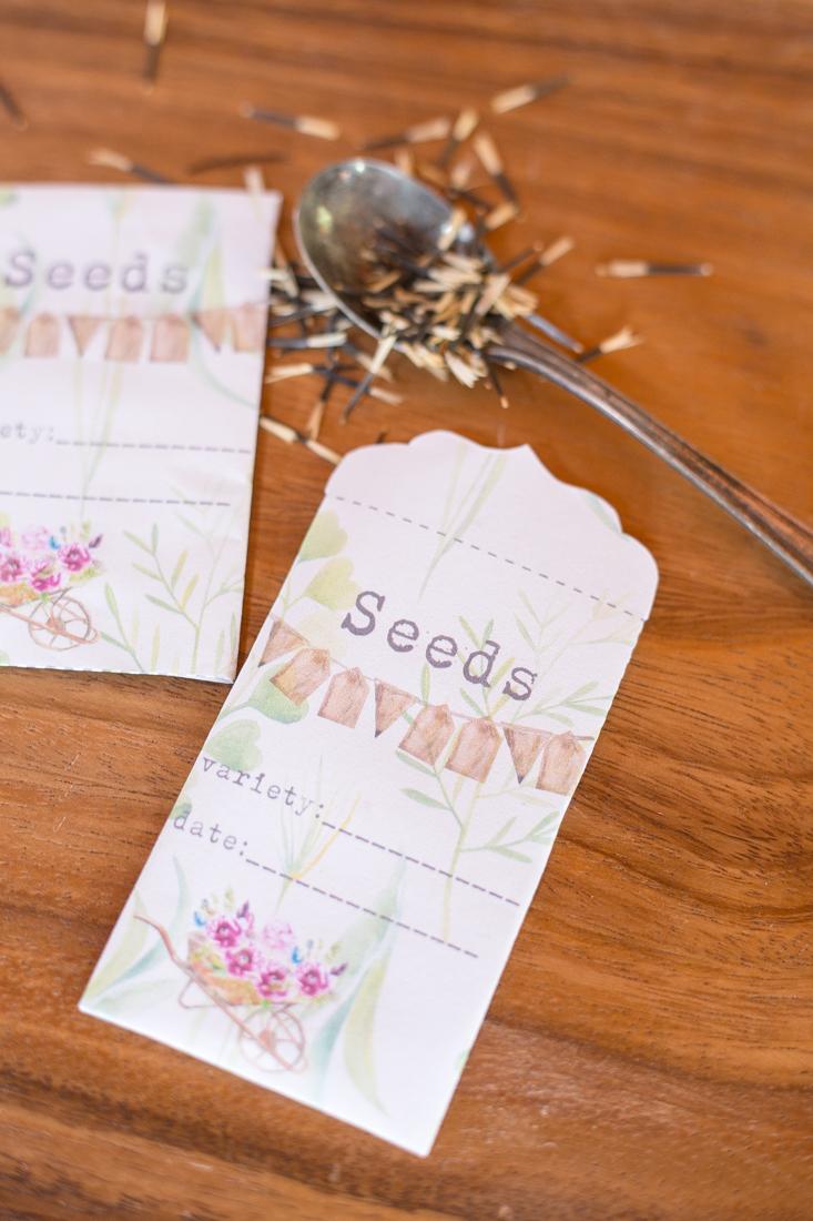 Printable Garden Seed Saver Packets Creative Cain Cabin