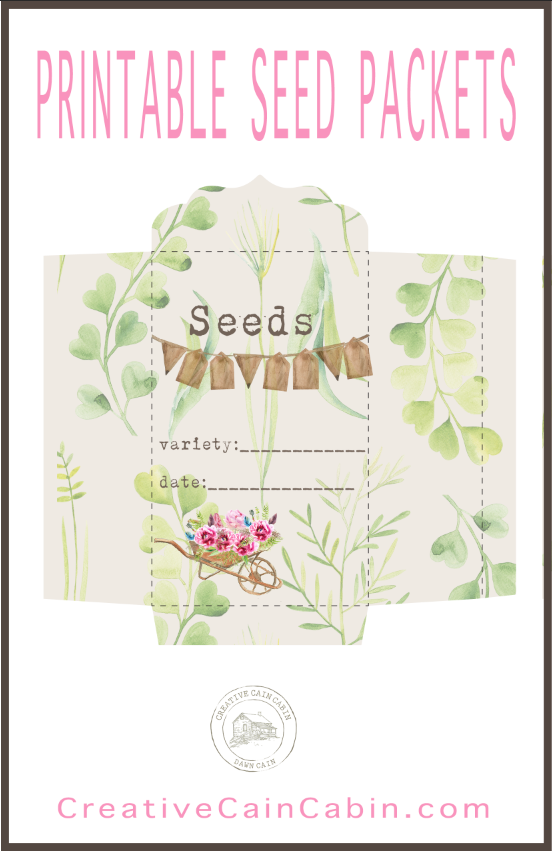 FREE Printable Garden Seed Saver Packets. Just Download, Print On Your Home Printer, Cut Out and Assemble.