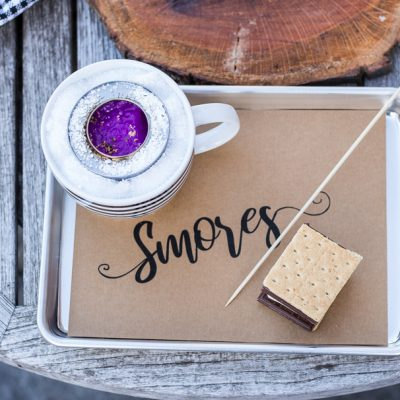 Cozy Rustic Table Top S'mores