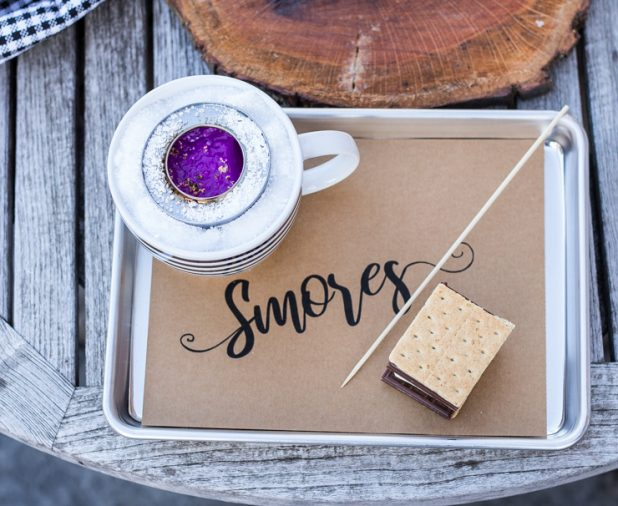 Rustic Table Top S'mores DIY Kit, Easy Outdoor Party Idea, No Fire Pit Required