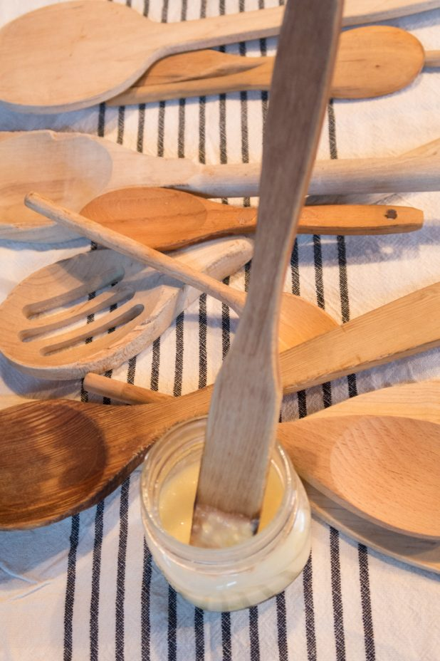 Recipe for conditioning wooden spoons and cutting boards