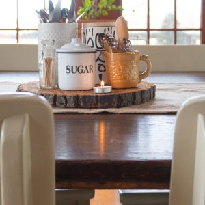 Winter Dining Table In Neutrals
