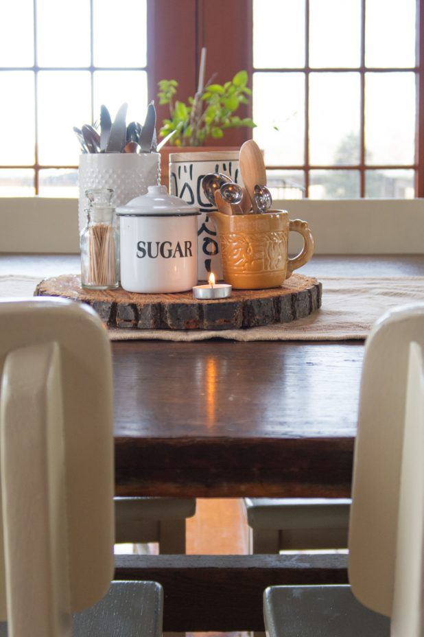 Simple Dining Table For Winter Adding Things That Are Used Everyday To the Mix