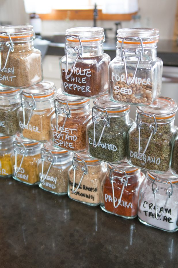 Herb and Spice Organization , Pantry Organization, Glass Container Storage, Food Storage Containers, Airtight Glass Container