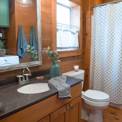 Bathroom Farmhouse Window Treatment