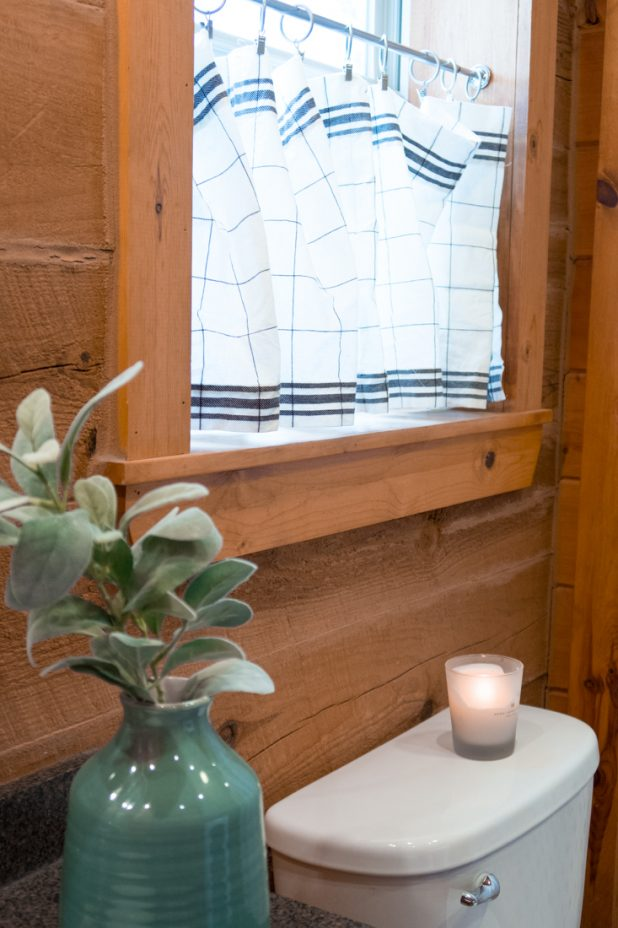 Farmhouse bathroom curtain ideas