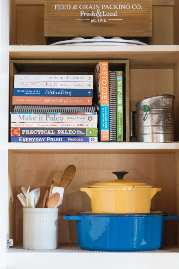 5 Ways to Organize Cookbooks Farmhouse Style With Things From Around Your Home