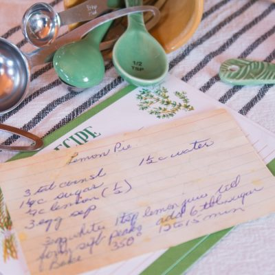 Hand Written Recipe Cards