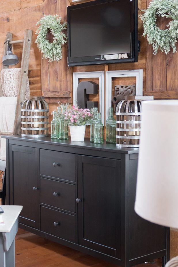 Farmhouse Style Living Room Using Ikea Furniture, Farmhouse Style, TV Wall