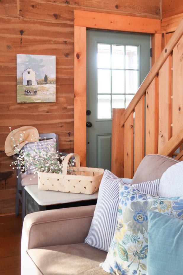 Green Door, Farmhouse Style Decor
