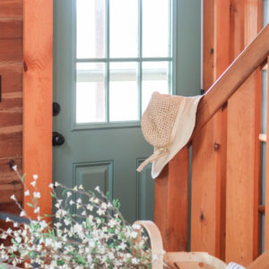 Painted Door In Sherwin Williams Privilege Green