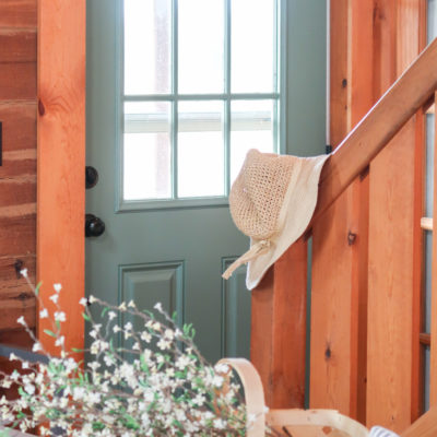 Painted Door In Sherwin Williams Privilege Green
