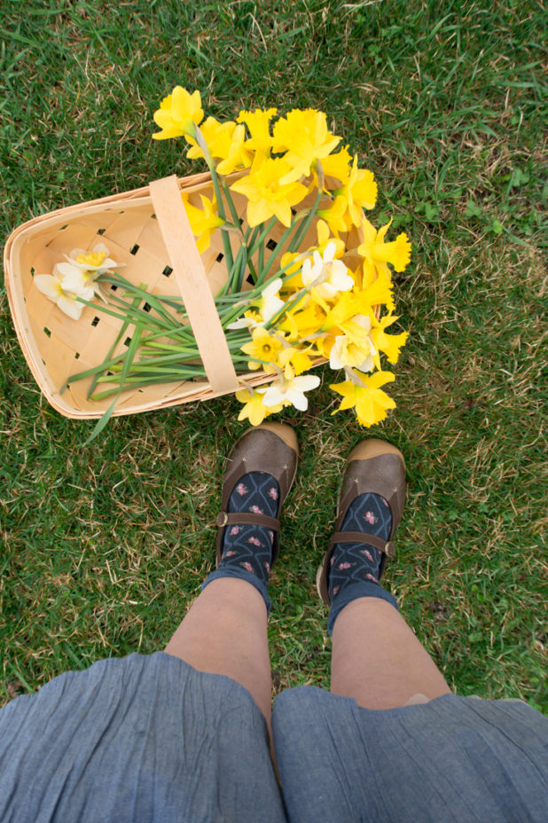 Daffodil Bloom, Berry Basket, Keen Mary Janes, Spring