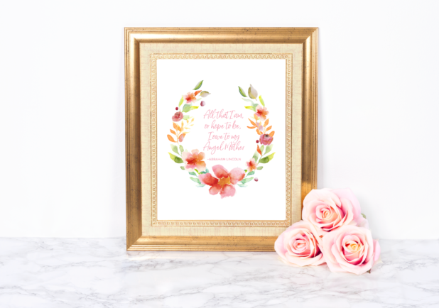 Mothers Day Wreath Printable