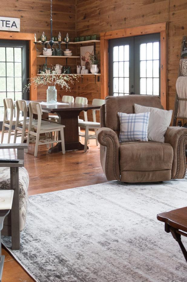 Area Rug, Rustic Decor, Farmhouse Decor, Log Home, Buffalo Check, Green and Blue Decor