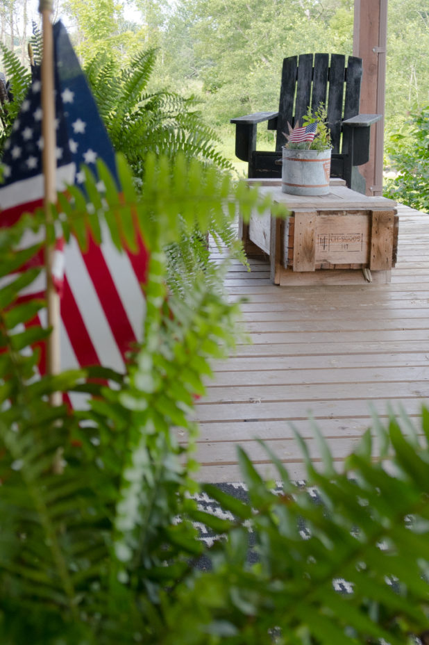 4th of July, Red White Blue, Porch Decor
