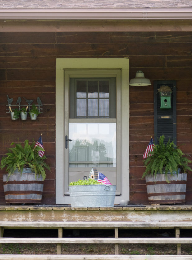 Red White and Blue 4th of July Patriotic Porch Decor