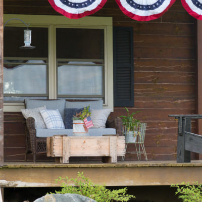 Red, White, and Blue Porch