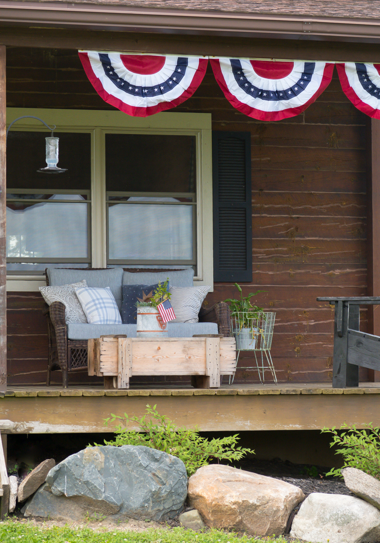 Red White And Blue Porch Creative Cain Cabin