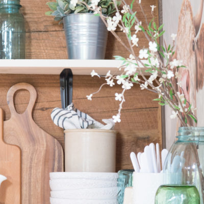 Summer Farmhouse Shelf Refresh