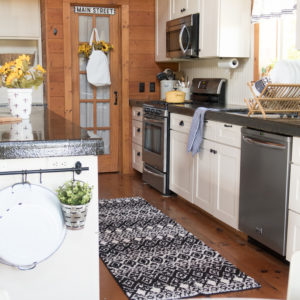 Black White & Sunflower Kitchen