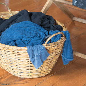 Line Drying Inside With a Foldable Clothes Rack