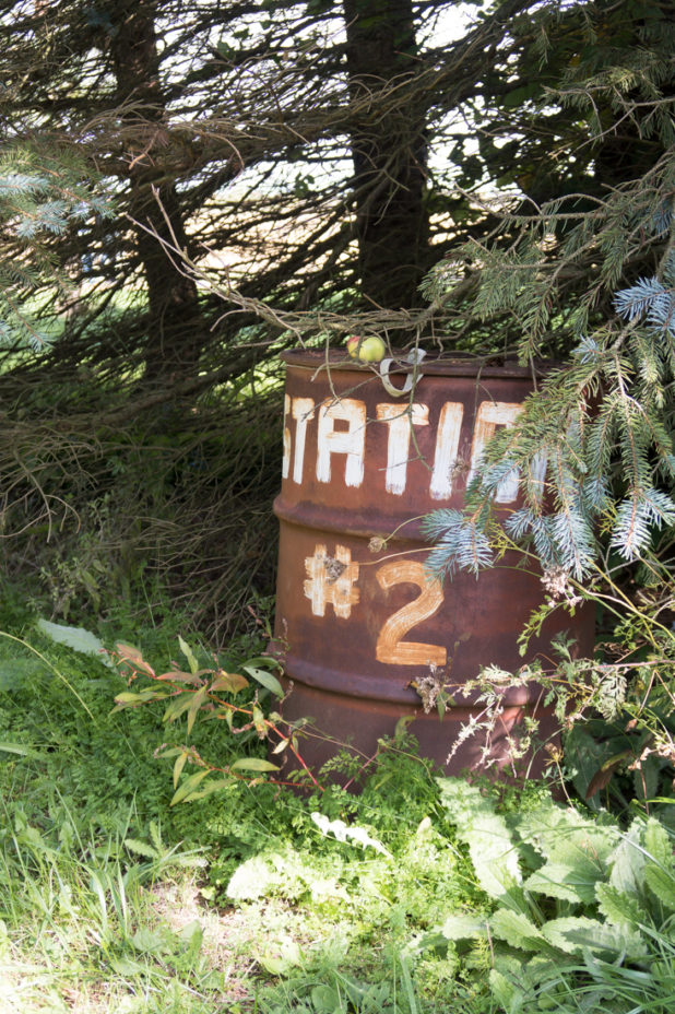 Rusted Metal Barrel