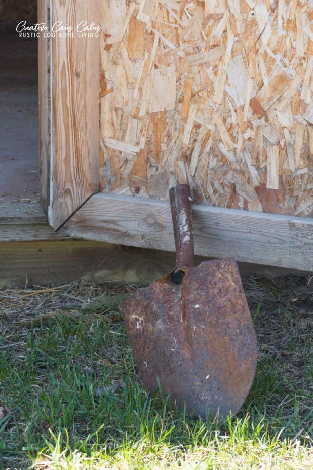 Rustic Door Stop, an Old Shovel