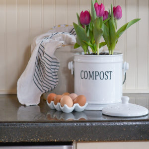 Stylish Countertop Compost Bin