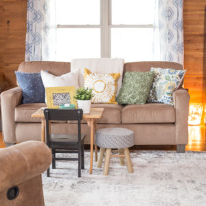 Spring Cabin Living Room Tour 2020