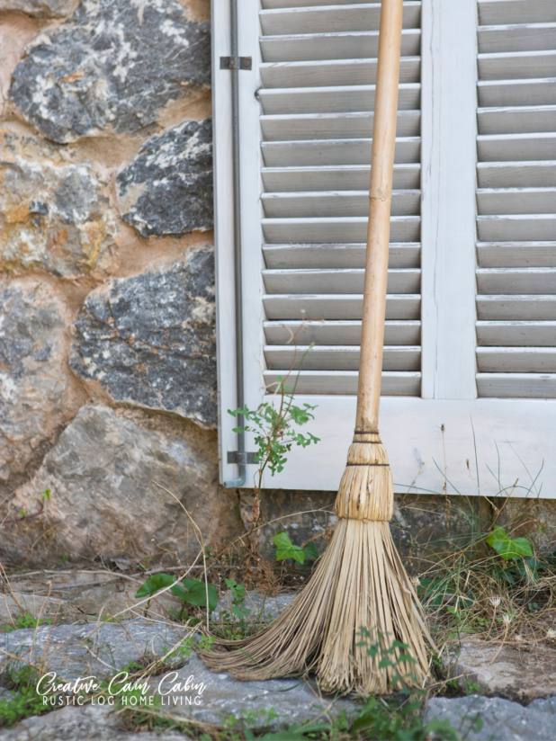 Vintage Broom, Rustic