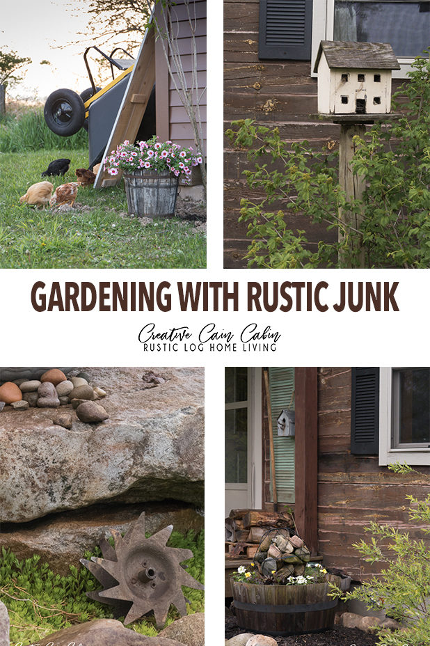 Gardening With Rustic Junk