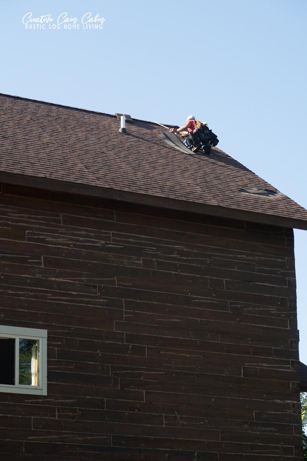 Cabin Roof Repair Storm Damage