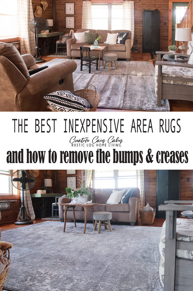 Best Inexpensive Area Rugs and How to Remove the Bumps and Creases